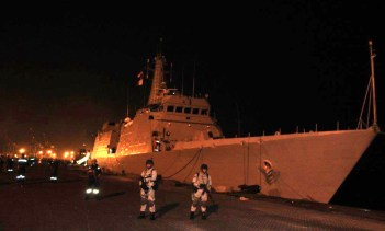 INS Sumitra at Aden Port