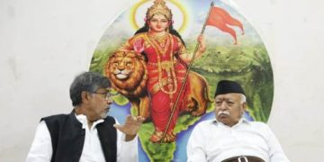 kailash satyarthi with Mohan Bhagwat