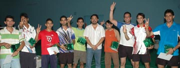 The Punjab team which won the Rahimtoola Cup All India North Zone Inter-State Badminton Championships in Jalandhar on Tuesday.