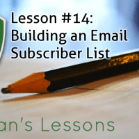 Lesson #14 - Building an Email Subscriber List