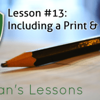 Lesson #13 - Including a Print & Play