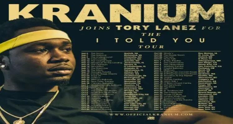 Kranium Joins Tory Lanez on 'I Told You' Tour