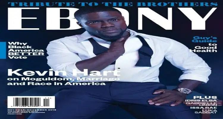 Kevin Hart Covers EBONY Magazine