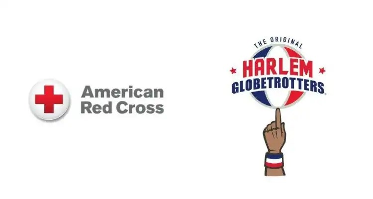 Red Cross and Harlem Globetrotters Partner