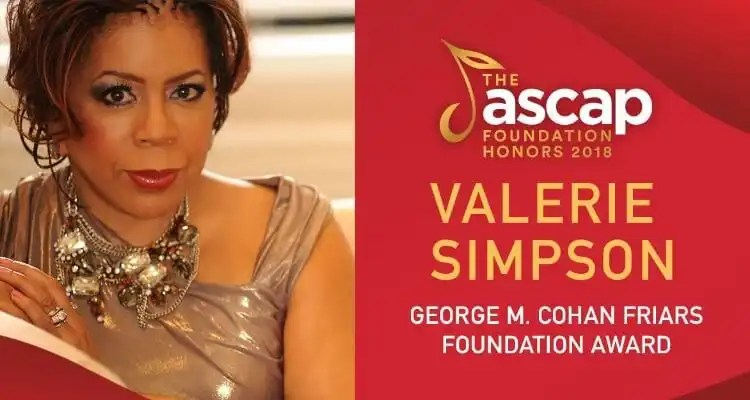 Valerie Simpson To Receive The ASCAP Foundation George M. Cohan Friars Foundation Award