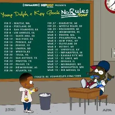 SiriusXM Presents 'Young Dolph x Key Glock: No Rules Tour'