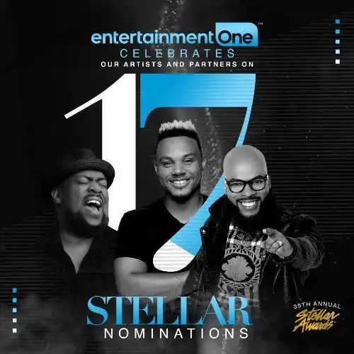 Entertainment One Celebrates 17 Nominations for 35th Stellar Gospel Music Awards