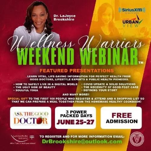 SiriusXM UrbanView Host Dr. LaJoyce Brookshire Presents Wellness Warriors Weekend Webinar