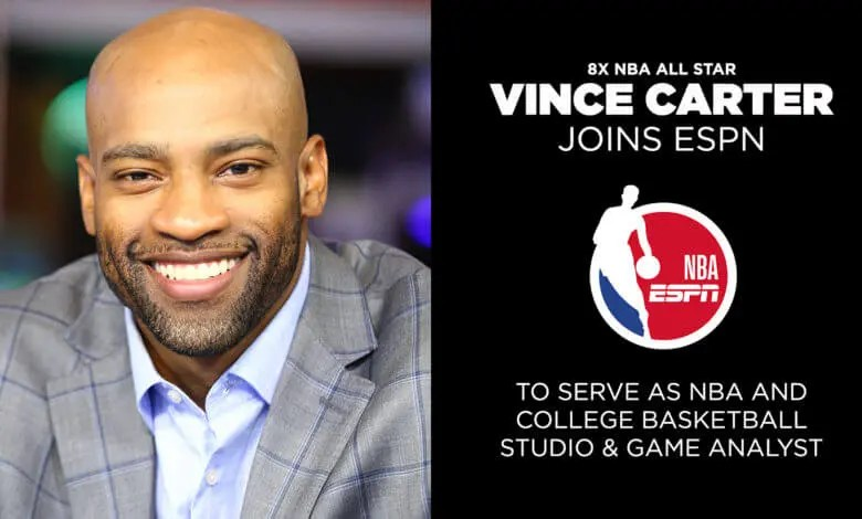 ESPN Signs Eight-Time NBA All Star Vince Carter to Multi-Year Deal
