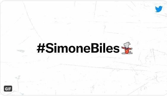 Simone Biles Becomes First Female Athlete with Her Own Twitter Hashtag and Emoji