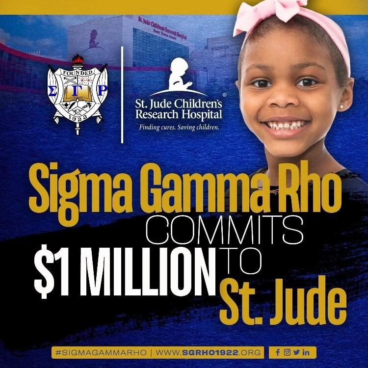 Sigma Gamma Rho Donates 1 Million to St. Jude Children's Hospital