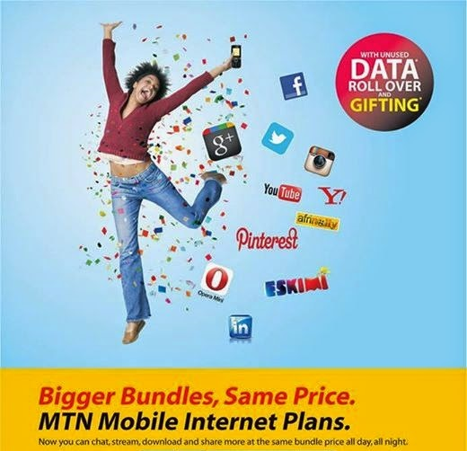Mtn new data plans for android, iphone, and blackberry devices