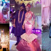 #BAAD2017: Adesua Etomi wore 4 dresses for her wedding, here are photos of her parents