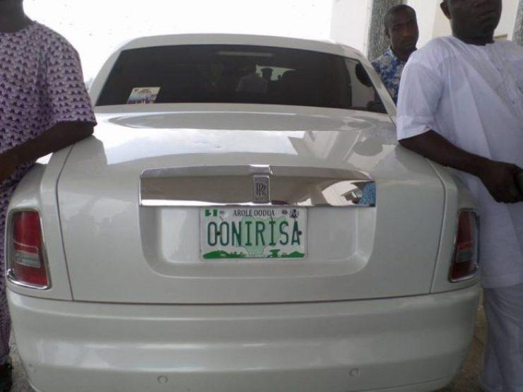 Image result for Oba Adeyeye Enitan Ogunwusi rolls royce