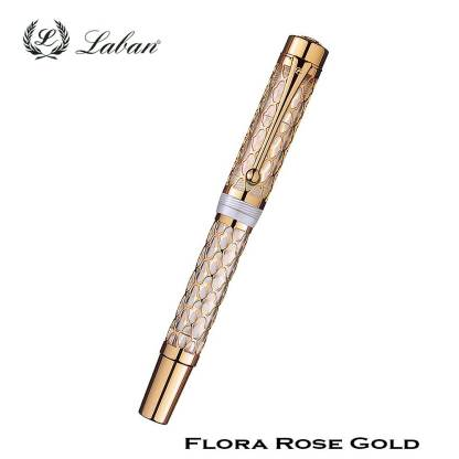 Laban Flora Rose Gold Fountain Pen Closed