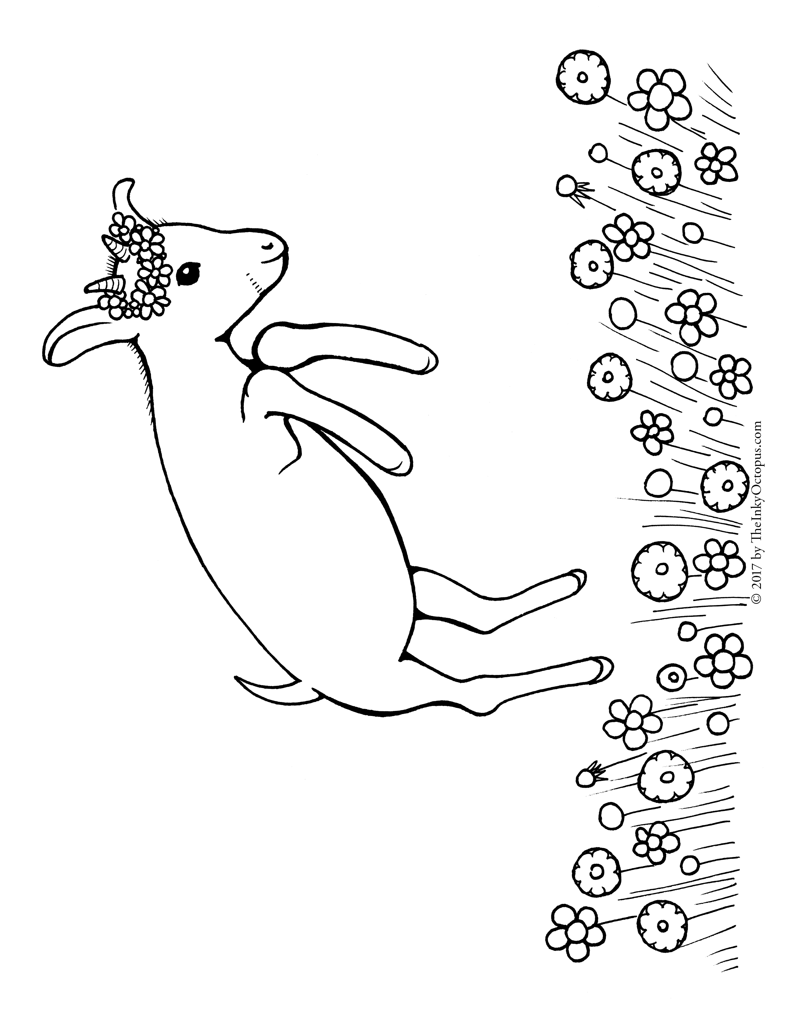 Free Printable Goat Coloring Page The Inky Octopus