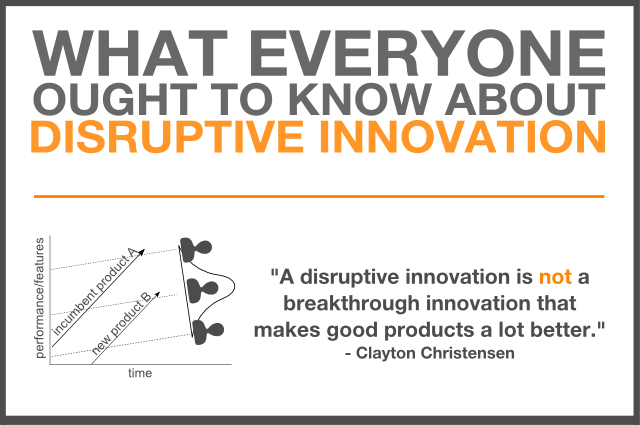 what everyone ought to know about disruptive innovation clayton christensen