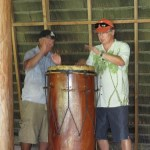 Pete with drummer