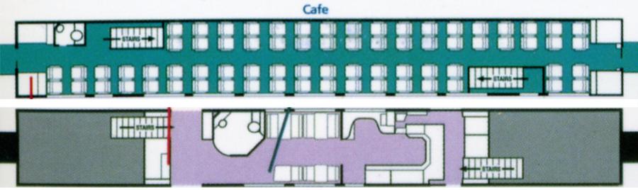 Surfliner Cafe car