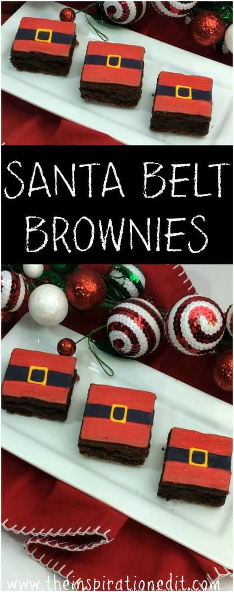 santa belt brownies