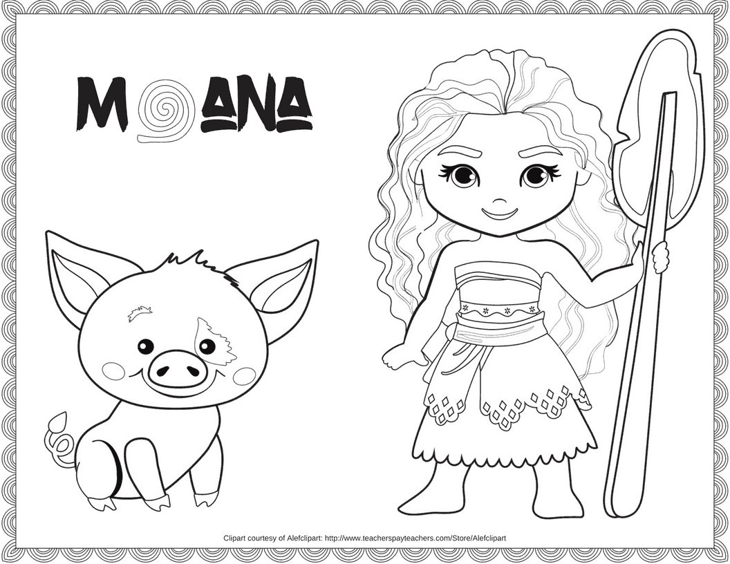 Invaluable image regarding printable moana