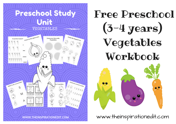 Vegetables Preschool Work Sheets