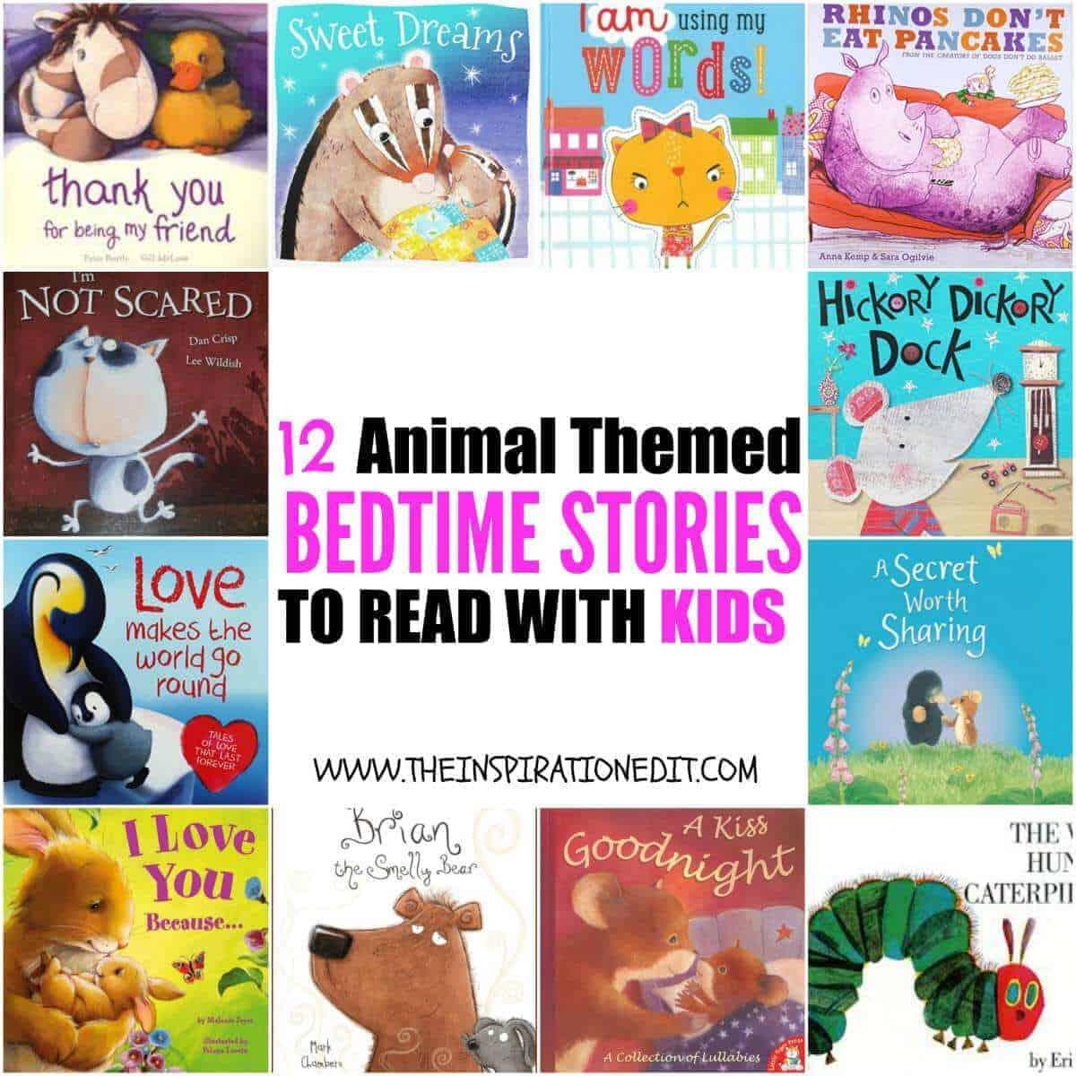 12 Animal themed bedtime stories