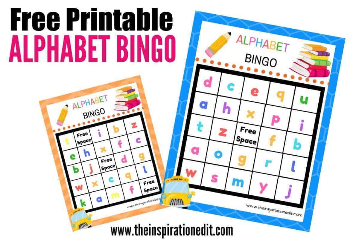 Free Alphabet Bingo Printable For Kids The Inspiration Edit