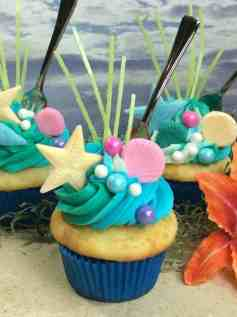 The Little Mermaid Ariel Fork CUPCAKE Food Idea