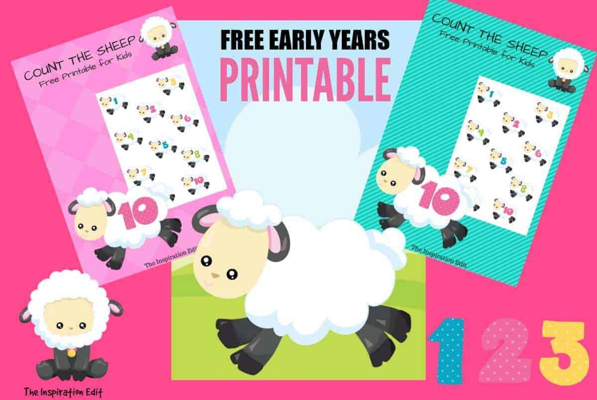 Free Early Years Count The Sheep Printable The