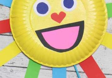 Summer Sun Paper Plate