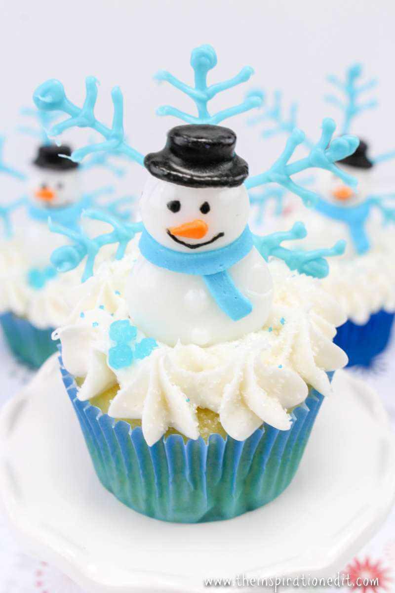 Funky Winter Scene Cupcakes 183 The Inspiration Edit