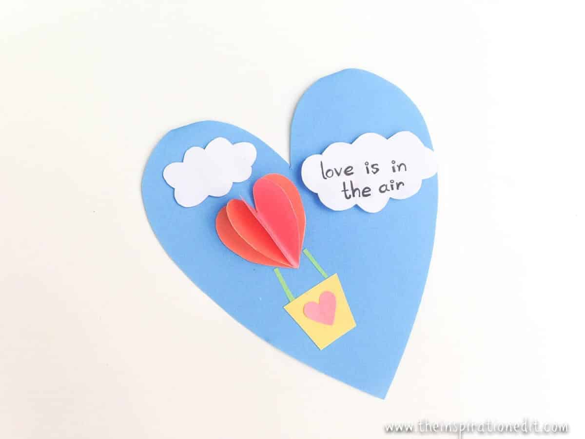 heart air balloons card air balloon valentines day craft 183 the 4652