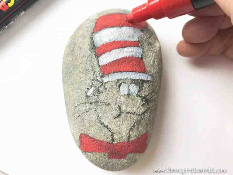 Cat In The Hat Rock Painting Craft 183 The Inspiration Edit