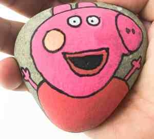 Peppa Pig Rock Stone Painting