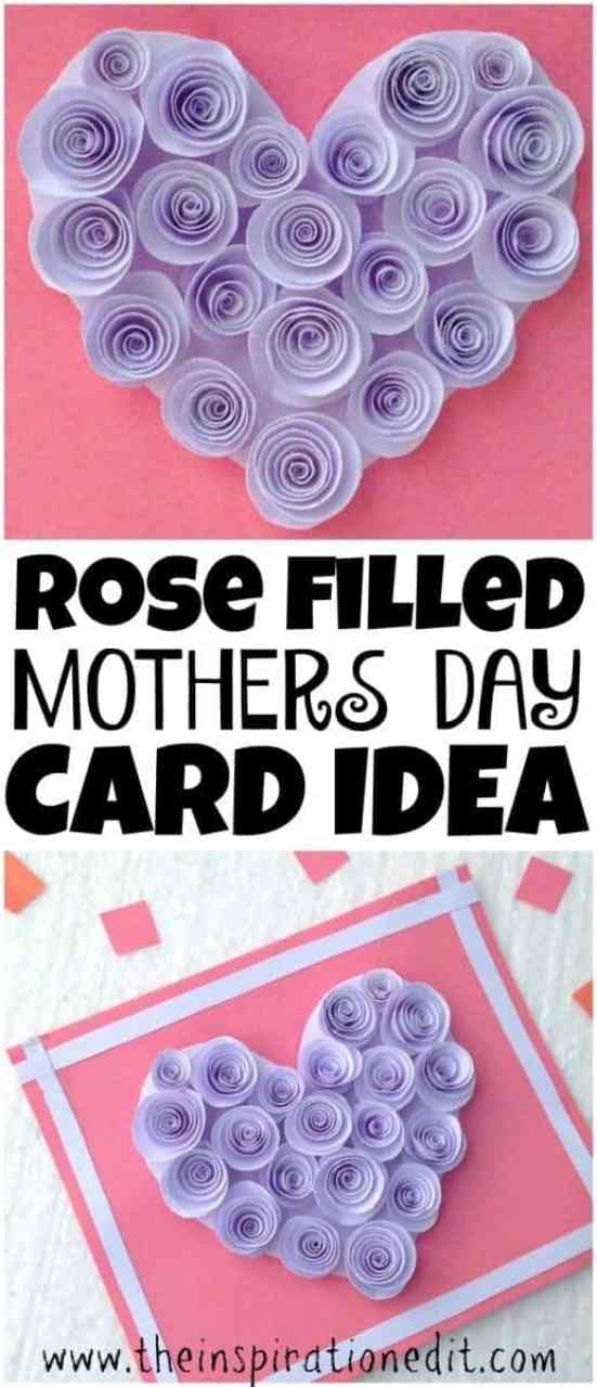 Rose Filled Mothers Day Card