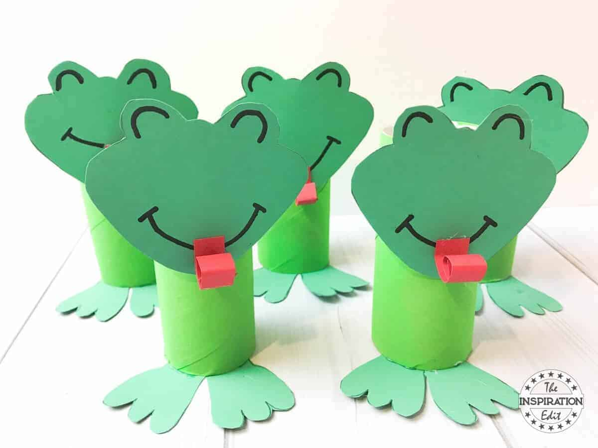 Super Cute Toilet Tube Frog Craft Kids on Preschool Painting Projects