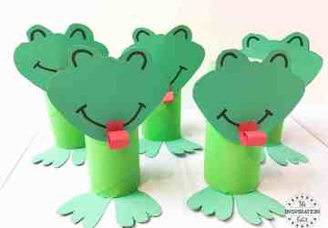 Toilet Tube Frog Craft For Kids