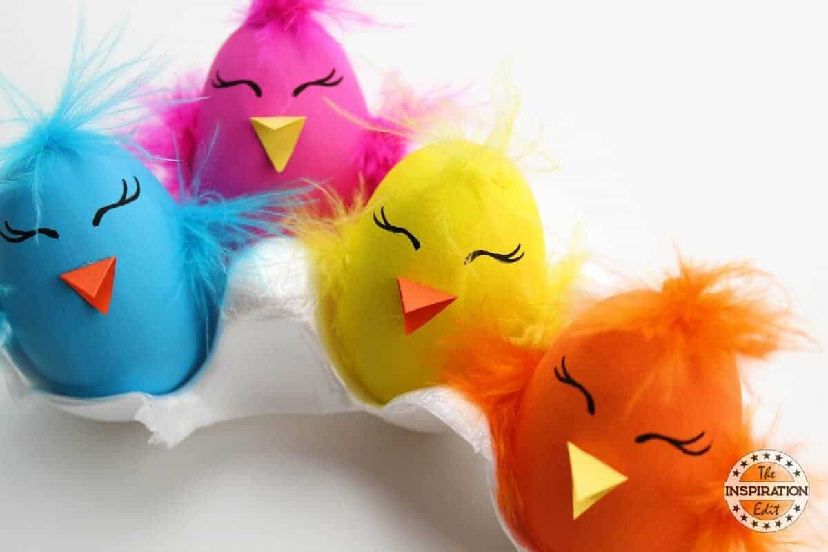 FUNKY EASTER CHICK EGGS