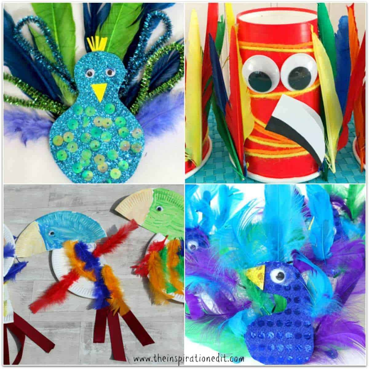 Paper Plate Parrots 11. Simple Parrot Craft  sc 1 st  The Inspiration Edit & 15 Tropical Bird Crafts Kids Will Love · The Inspiration Edit