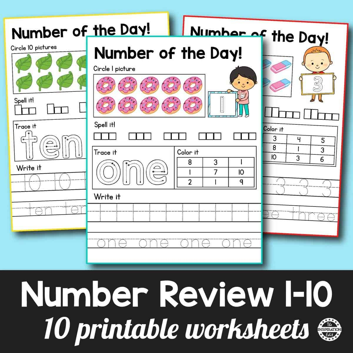 Fantastic Number Of The Day Preschool Worksheets The Inspiration Edit