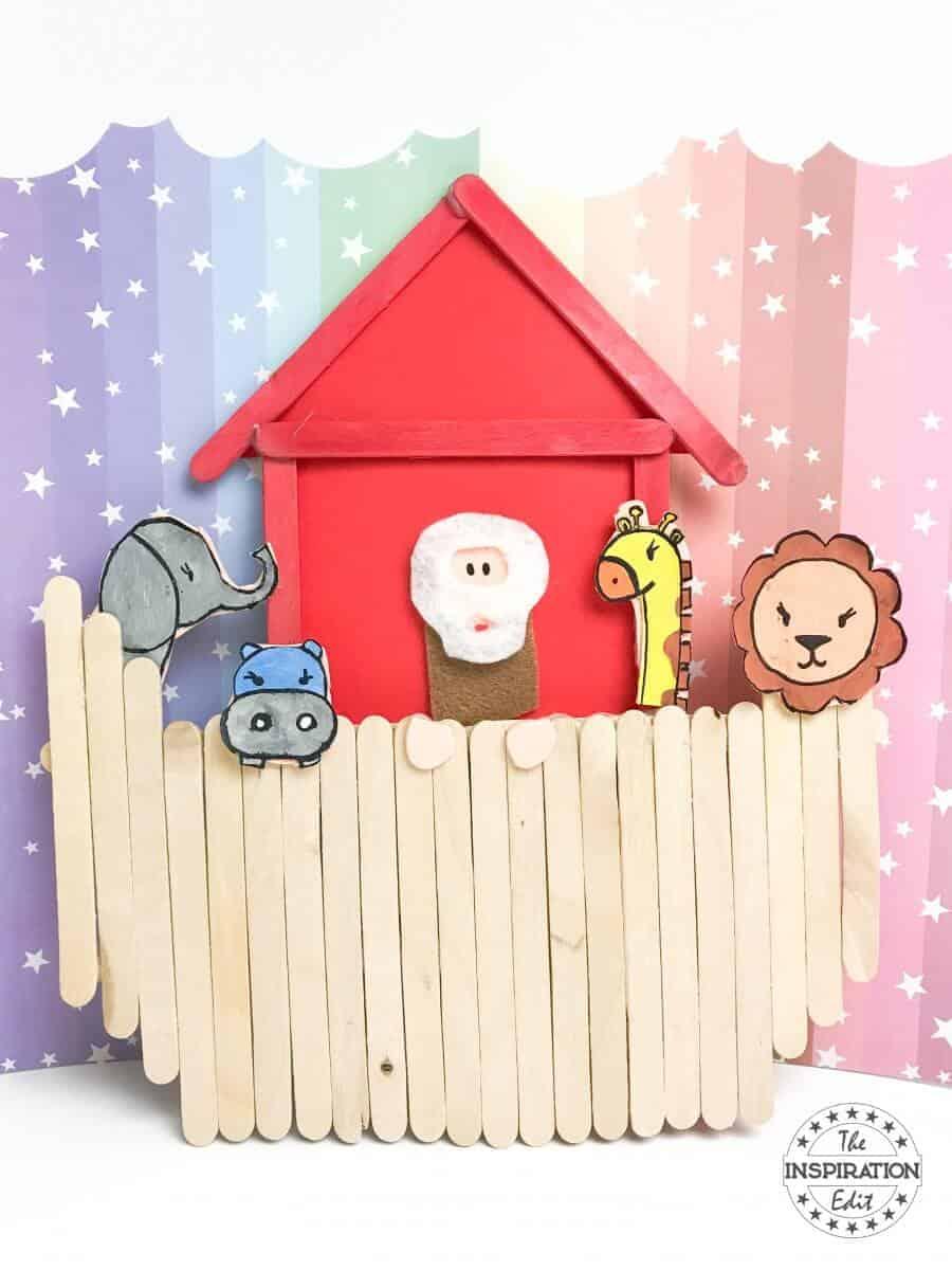 noahs ark popsicle stick craft
