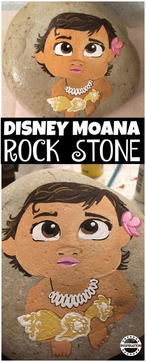 DISNEY MOANA  - Disney Moana Rock Stone Painting