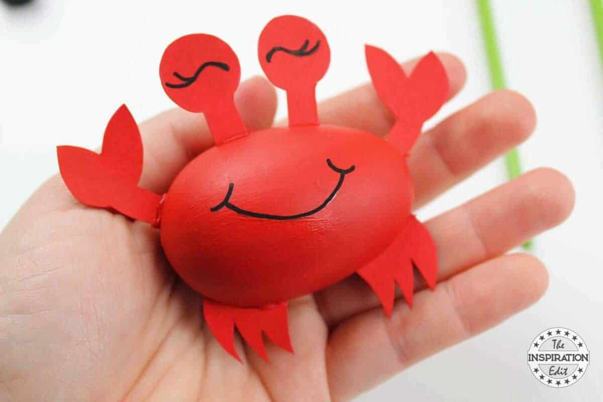 Diy Ocean Craft For Kids Blue Whale Crab And Fish The