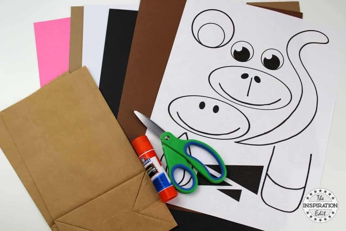Diy Paper Bag Monkey Craft For Preschoolers The