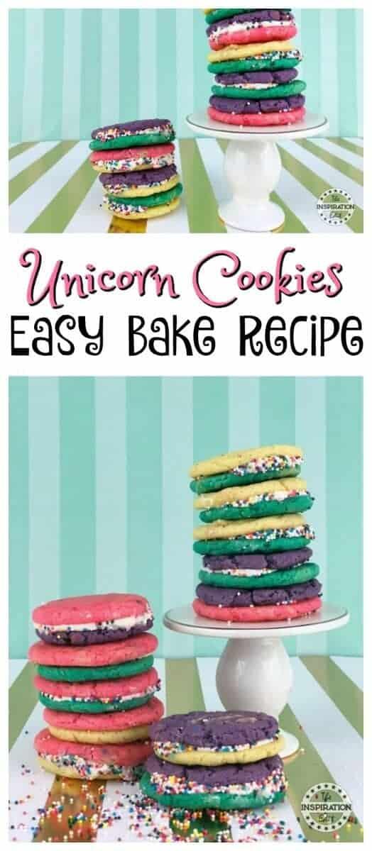 Unicorn Cookies Easy Bake Recipe