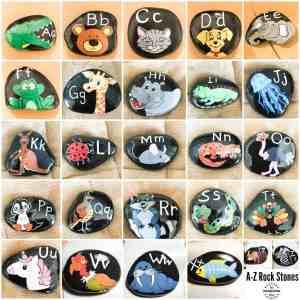 alphabet rock stones