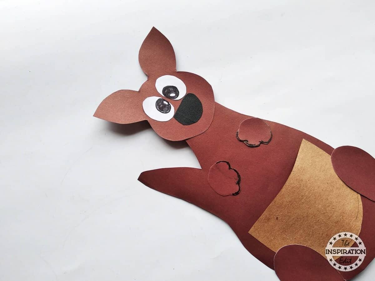 Kids Paper Kangaroo Craft Activity The Inspiration Edit