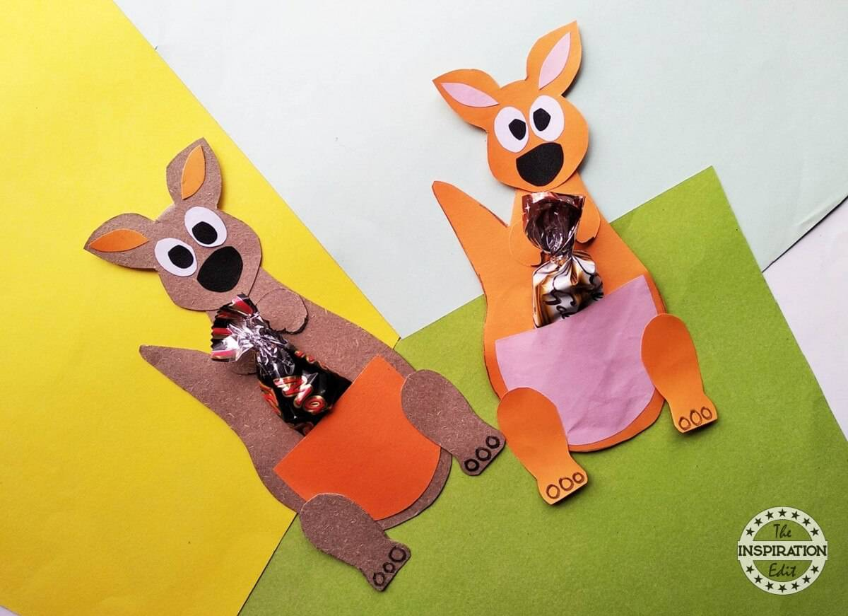 Kids Paper Kangaroo Craft Activity The Inspiration Edit