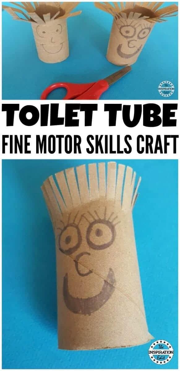 Toilet tube fine motor skills
